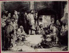 BNF - Rembrandt - La Petite Tombe Vers 1652 Eau-forte, pointe sèche et burin. 155 x 208 mm