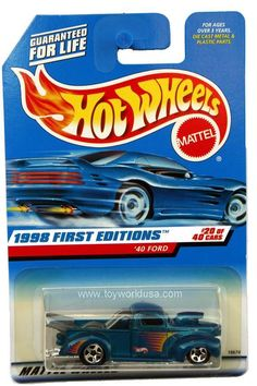 rare hot wheels 1998 hot wheels 654 first editions 40 ford china base rare - Rare Hot Wheels Cars List