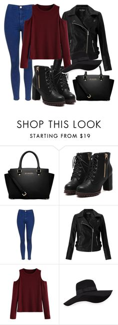 """mnjhjk"" by v-askerova on Polyvore featuring мода, MICHAEL Michael Kors, Topshop, Miss Selfridge, WithChic и San Diego Hat Co."