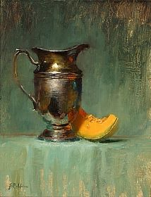 Silver and Cantaloupe by Elizabeth Robbins - Oil by Salon International 2013