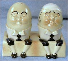 Ceramic Humpty Dumpty Salt & Pepper Shakers