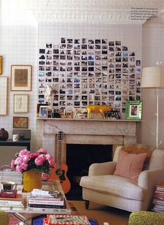 love the photo wall...but i would tire of it very quickly