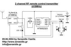 2 channel RF remote control