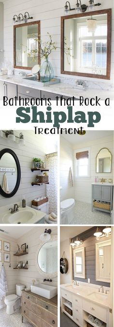 10 Gorgeous Bathrooms with a Shiplap Treatment