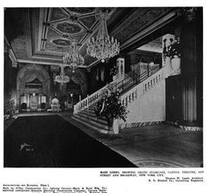 The Capitol Theatre designed by Thomas W. Lamb c. 1919 at 1645 Broadway in New York City.