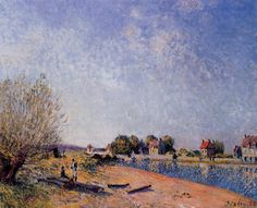 Loing Canal at Saint-Mammes  1885 Paintings | Alfred Sisley paintings