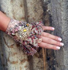 True Romance CUSTOM MADE wearable art cuff with ♥ by bonheur