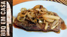 RECEITA DE BIFE ACEBOLADO (Sirloin Steak with Caramelized Onion)
