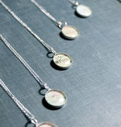 personalized bridesmaids gifts map necklace by dlkdesigns, $37.00