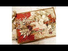 "Virág Réti - Mixed Media Scrapbook Tutorial - #6 - ""Vintage Christmas Card"" - YouTube"