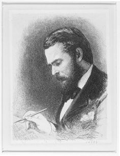 In 1880 the Philadelphia Society of Etchers commissioned this self-portrait of Stephen James Ferris, who was a founding member of the society. He captured his beard nicely, didn't he?