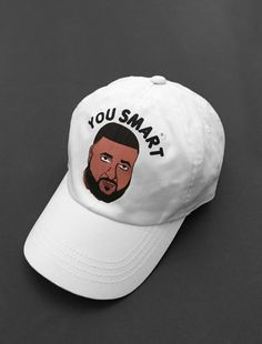 Image of You Smart white Strapback Cap