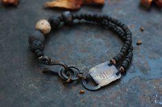 Boat rock art bracelet by solekoru on Etsy