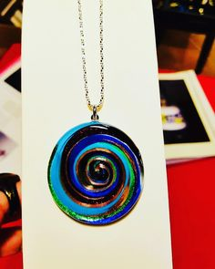 Colorful aventurine lampwork pendant in murano glass #pendant #muranoglass #beadsforbeadingsiena