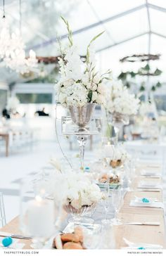 So delicate this wedding table decorations.