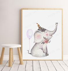 "PRINTABLE ART PRINT - Boho elephant (8x10"" and A4 included) /Boho Elephant Art Print/ Kids Room Decor/ Kids Wall Art / Nursery Wall Art by groovygoose on Etsy Art Wall Kids, Nursery Wall Art, Party Invitations Kids, Elephant Art, Printable Art, A4, Kids Room, Room Decor, Art Prints"