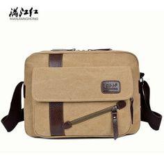 Squirrel fashion canvas zipper business men messenger bag crossbody satchels briefcase vogue Korean style hipster youth handbags