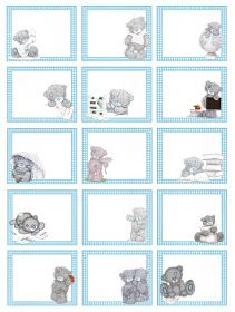Creazioni Cla: Etichette per la scuola per maschietti Digital Paper Freebie, Free Printable Stationery, Baby Boy Themes, Teddy Bear Pictures, Blue Nose Friends, Tatty Teddy, Mothers Day Crafts, Baby Scrapbook, Stationery Paper