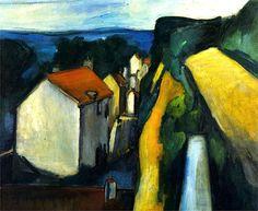 """The Village, 1908-1909 Maurice de Vlaminck. Maurice de Vlaminck (París, 4 de abril de 1876 - Eure-et-Loir, 11 de octubre de 1958) fue un pintor fauvista francés. Vlaminck fue uno de los pintores que causaron escándalo en el Salón de otoño de 1905, que recibió el apelativo de """"jaula de fieras"""", dando nombre al movimiento del que formaba parte junto a Henri Matisse, André Derain, Raoul Dufy y otros."""