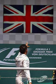 Podium: winner Lewis Hamilton, Mercedes AMG at German GP High-Res Professional Motorsports Photography F1 Lewis Hamilton, Lewis Hamilton Formula 1, Grand Prix, Monaco, Real Champions, Racing Car Design, Amg Petronas, Formula 1 Car, F1 Season