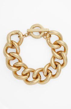 Anne Klein link toggle bracelet. Classic.