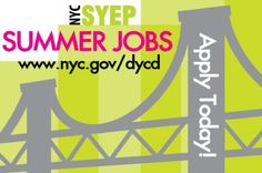 Summer Youth Employment Program (SYEP) for ages 14-24