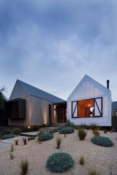 modern barn by Jackson Clements Burrows with sparse landscaping#contemporary #barn #architecture