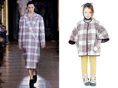 Stella McCartney girls mini me tartan coat - Paris Fashion Week