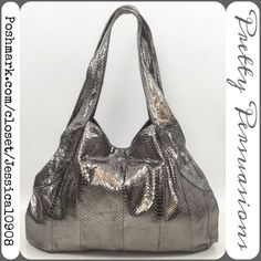 Beirn Metallic Gunmetal Leather Hobo Bag Beirn Metallic Gunmetal Distressed Faux Water Snake Skin Leather Hobo Bag  MSRP $489.00 ~ SOLD OUT EVERYWHERE   Condition: Excellent- shows minimal signs of wear; is clean; stain free; no defects or damages. View all photos as they are part of the description.   Measurements available upon request   Bundle discounts available No pp or trades Beirn Bags Hobos