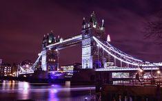 Download wallpapers Tower Bridge, London, England, evening, Thames, United Kingdom, tourist attraction, London landmarks