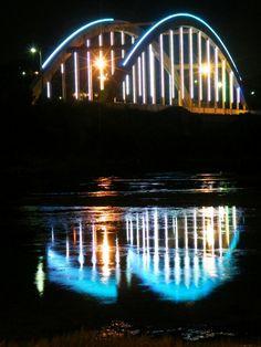 Bridge at night, Port Alfred, Eastern Cape, South Africa, 2010. #smallboatharbour #portalfred #marina #holidays #royalalfredmarina #retirement #standrewshotel #stendenuniversity #multisecurity