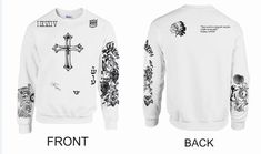 UPDATED VERSION Unisex Crewneck Sweatshirt Justin Bieber Tattoos