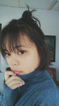 Short hair bun