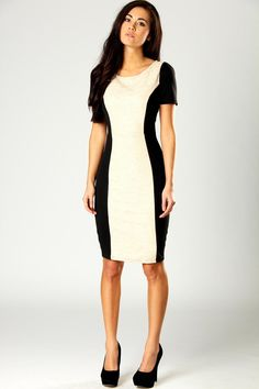 Bodycon illusion dress that gives killer curves just like Kim K x  boohoo.com