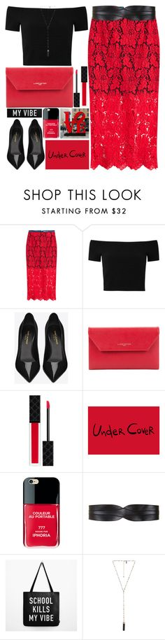 """""""Ready!!!"""" by grozdana-v ❤ liked on Polyvore featuring Preen, Alice + Olivia, Yves Saint Laurent, Lancaster, Gucci, Iphoria, BCBGMAXAZRIA and Natalie B"""