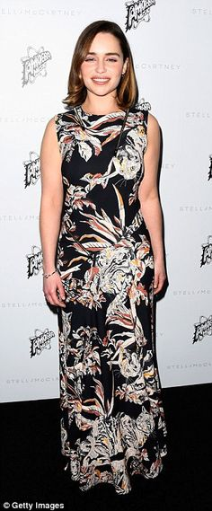 Hello petal! Emilia Clarke was among the A-Listers in attendance. She flaunted her defined...