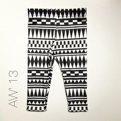 B&W+AZTEC++organic+cotton+leggings+hipster+kids+by+SweetKiddoCo,+$25.00