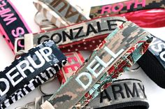 Custom Name Tape Keychain! I could probably make this... :)