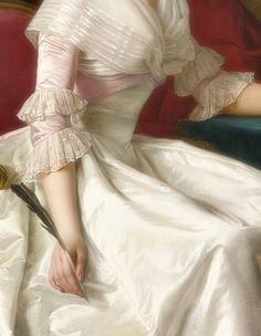 Portrait of a lady, Detail. by Rose-Adélaïde Ducreux (1761-1802)