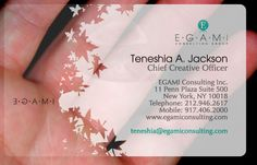 Clear Business Card Designer Self Promotion Piece