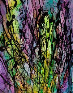 Rilke 1,Andrea Warren, Acrylic on canvas, 24x30, 2015