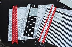 polka dots and strips menu, singer sewed