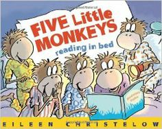 After their mama reads to them, it's bedtime for the Five Little Monkeys. But they can't resist reading just one more book. This playful addition to the Five Little Monkeys series returns to the familiar setting of Five Little Monkeys Jumping on the Bed.