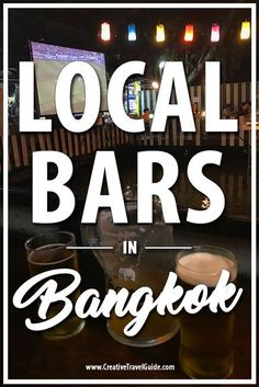 One of our favourite things to do in #Bangkok was finding a local bar and having a beverage. To clarify, we have just spent 7 months in #China, where there is no real drinking culture - we were craving a #beer garden! So, we spent some time on our trip finding local bars in Bangkok and here they are! Bangkok Thailand, Thailand Restaurant, Thailand Vacation, Thailand Honeymoon, Thailand Travel Guide, Bangkok Travel, China Travel, Food Travel, Group Travel