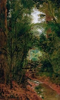 Landscape at the Rio das Pedras - Jose Ferraz de Almeida Junior