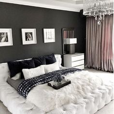 Modern and Chic Bedroom Design and Decoration Ideas Part home design ideas; home design ideas home designs home designs ideas; bedroom design tips; Luxury Curtains, Luxury Bedding, Bedroom Curtains, Cute Room Decor, Girl Bedroom Designs, Stylish Bedroom, Bedroom Romantic, Home Decor Bedroom, Kids Bedroom