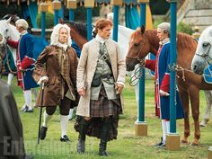 """Heughan said he felt a responsibility to read Diana Gabaldon's books before embarking on Outlander. """"It's a gift for an actor to have that sort of source material."""""""