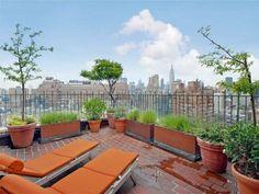 NYC rooftop deck.