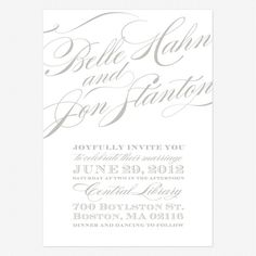 @Sinda Rosenberg . Soft and Romantic Invite from LovevsDesign. Sinda and Jerry. Cheri Wedding Invitations www.lovevsdesign.com