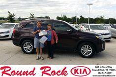 Congratulations to Rosa Munoz on your #Kia #Sorento purchase from Roberto Nieto at Round Rock Kia! #NewCar